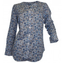 Druckbluse sleeved white blue gray