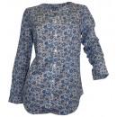 wholesale Shirts & Blouses: Pressure blouse  long sleeve white blue gray