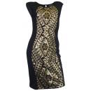 wholesale Dresses: Laura Scott Sequin Dress black gold
