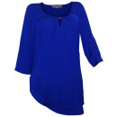wholesale Shirts & Blouses: Ashley Brooke satin blouse blue