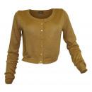 Cardigan Bolero camel gold