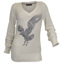 Arizona Grobstrick  sweater Adler beige gray