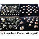 Großhandel Schmuck-Aufbewahrung: 2 Ringkoffer incl.  79 exclusiver RINGE Modeschmuck