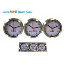 Wall clock set of 3, each 15cm, Global Times Alu