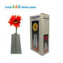 Großhandel Blumentöpfe & Vasen: Glas Vase 17cm Venezia mit Gerbera S