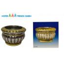 wholesale Flowerpots & Vases: Plant pot 12x8cm planter flowerpot, silver-look,