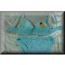wholesale Erotic Clothing: Dessous Bra Set  imaginative lace C turquoise