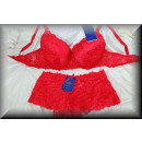 wholesale Fashion & Apparel: Lingerie Bra Set EDLE sexy floral cup C red
