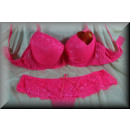 wholesale Erotic Clothing: Lingerie Bra Set  NOBLE lace and flowers Cup B Pink