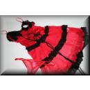 Großhandel Erotik Bekleidung: Sexy Negligee mit  Ruesche und String rot