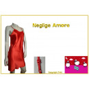 wholesale Erotic Clothing:Neglige satin Amore red