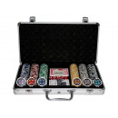 300 Poker Chips  with Aluminum Carrying Case (11.5