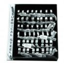 Großhandel Schmuck & Uhren: Edelstahl Schmuck  Ring Fingerring Set II 48 Stück