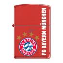 Zippo FC Bayern München Rot Matt Druck Benzinfeuer
