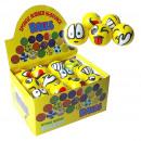 Großhandel Bälle & Schläger: Soft-Ball gelb mit Grimassen ca.6,5cm