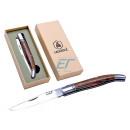 Laguiole Taschenmesser Braun Colour Lines