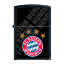 Zippo FC Bayern München Black Matt Druck Benzinfeu