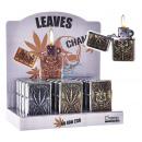 Großhandel Geschäftsausstattung: Benzinfeuerzeug Leaves Champ