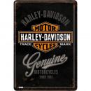 BlechpostkarteHarle y - Davidson10 x 14cm