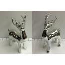 mayorista Gadgets y recuerdos: Reno de porcelana plata aprox.20cm