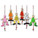 mayorista Juguetes: animales de la  marioneta de madera 6x por 18cm