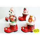 grossiste Boules de neige: Boule de neige sur  les bottes rouges de Noël