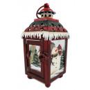 wholesale Wind Lights & Lanterns: Metal lantern snowman 18,5cm Christmas