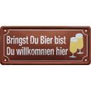 Großhandel Bilder & Rahmen:Blechschild Bier 28x12cm