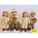 Kinderen met een gebreide muts 9cm Kerstmis