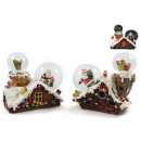 wholesale Gifts & Stationery: Snow Globe Ø 45 & 65mm Santa Claus / Gifts