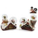 wholesale Snow Globes: Snow Globe Ø 45 & 65mm Santa Claus / Gifts