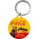 Schlüsselanhänger Coca - Cola Ø 4cm