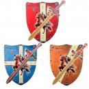 grossiste Jouets: Ensemble de 2 grandes épées en bois Templier color