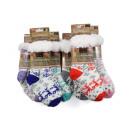 Großhandel Strümpfe & Socken: Kuschelsocken / Hüttensocken Rentier, mit ABS