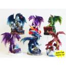 groothandel Home & Living: figuur Dragon kleurrijke 8cm
