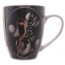 Tasse en porcelaine noir Fée Lisa Parker