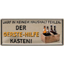 Großhandel Geschenkartikel & Papeterie:Blechschild Bier 28x12cm