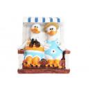 grossiste Epargner boite: mouettes Tirelire  - Couple en chaise de plage