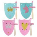 grossiste Jouets: Set de 2 petite épée princesse en bois + bouclier