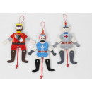 wholesale Wooden Toys: Wooden jumping jack knight 18cm