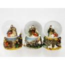 Großhandel Schneekugeln: Schneekugel Krippe 6,5cm Weihnachten