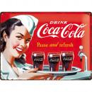 Großhandel Bilder & Rahmen: Blechschild Coca - Cola 30 x 40cm