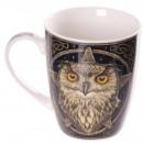 wholesale Cups & Mugs: Porcelain cup of  white owl Lisa Parker