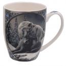 wholesale Household & Kitchen: Porcelain Mug Wolf Lisa Parker