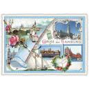 grossiste Gadgets et souvenirs: Nostalgie carte  postale / carte de voeux Hambourg