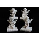 Anioł siedzący na książki z krystalicznie 6cm