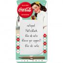 Großhandel Hefte & Blöcke: Notizblock - Blechschild Coca - Cola 10 x 20cm