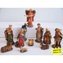 Großhandel Figuren & Skulpturen: Mini Krippefiguren  11-teilig 7cm Weihnachten