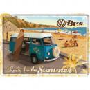 Großhandel Geschenkartikel & Papeterie: Blechpostkarte Volkswagen 10 x 14cm