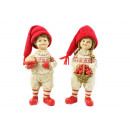 wholesale Artificial Flowers: Boy + girl standing with apple basket / ...